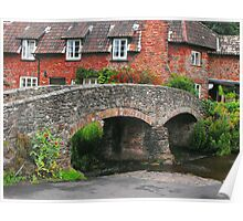 My England.  Packhorse Bridge at Allerford Somerset Poster