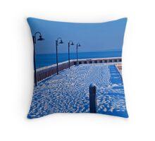 Cold Lake Marina Throw Pillow