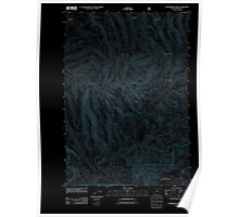 USGS Topo Map Oregon Summerfield Ridge 20110816 TM Inverted Poster