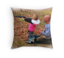 Teach Me How to Shoot Daddy Throw Pillow