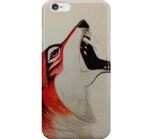 Red Wolf iPhone Case/Skin