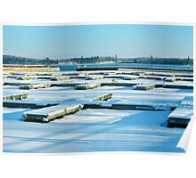 Cold Lake Marina in the Snow Poster