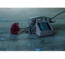 Phone And Flower Photographic Print