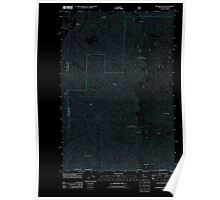USGS Topo Map Washington Deadman Peak 20110914 TM Inverted Poster