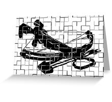 Tiled Design - Crossbow Greeting Card