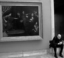 At the Louvre, Paris 2008 by Frank Bibbins