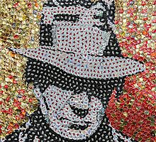 The Neil - Bottle Cap Mosaic by JAMbottlecapart