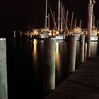 Miami Marina at Night 1 by Janis Lee Colon