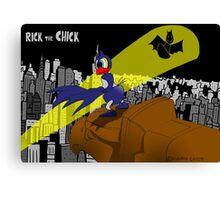 "Rick the chick ""BAT CHICK"" Canvas Print"