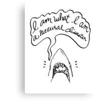 The Shark Tee Canvas Print