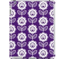 Purple Fun Smiling Cartoon Flowers iPad Case/Skin
