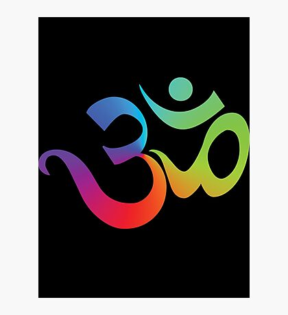 Yoga Om Symbol T-Shirt Photographic Print