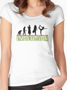 "Yoga ""Evolution"" T-Shirt Women's Fitted Scoop T-Shirt"