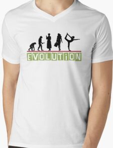 "Yoga ""Evolution"" T-Shirt Mens V-Neck T-Shirt"