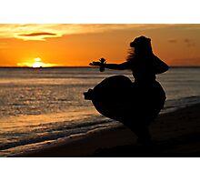 Hula Sunset II Photographic Print