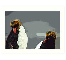 PENGUINS IN THEIR ANTARTIC HOME Art Print
