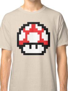 8-Bit Mario Nintendo Mushroom Red Classic T-Shirt