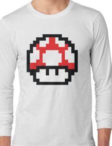 8-Bit Mario Nintendo Mushroom Red Long Sleeve T-Shirt