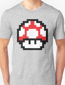 8-Bit Mario Nintendo Mushroom Red Unisex T-Shirt
