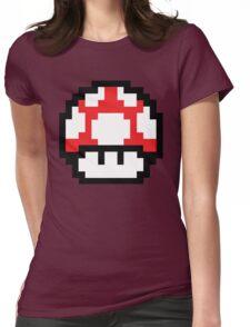 8-Bit Mario Nintendo Mushroom Red Womens Fitted T-Shirt