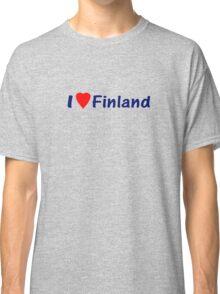 Suomi T-Paidat / T-Paitoja Vaatteista ~ I Love Finland T-Shirt and Top Classic T-Shirt