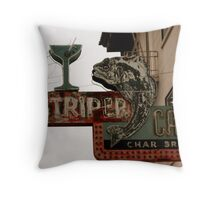 The Striper Cafe Throw Pillow