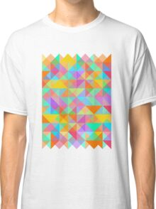 Geometric Shape Triangle Pattern 02 Classic T-Shirt