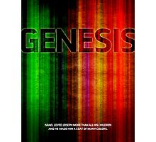 Word Leftovers: Genesis Photographic Print