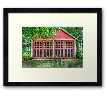 Red Garage Framed Print