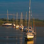Boats at Dell Quay by DuncanAllan