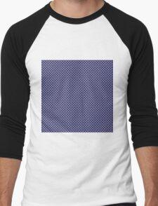 USA Flag White Stars on Flag Blue Men's Baseball ¾ T-Shirt