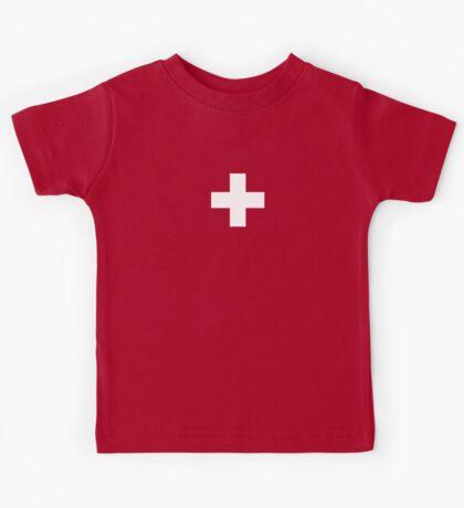 Swiss Flag - I Love Switzerland - White Cross T-Shirt Kids Tee
