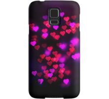 Love heart bokeh Samsung Galaxy Case/Skin