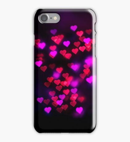 Love heart bokeh iPhone Case/Skin