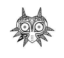Majoras Mask Doodle Zelda Nintendo Tattoo Photographic Print
