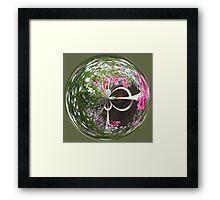 Spherical flower basket Framed Print