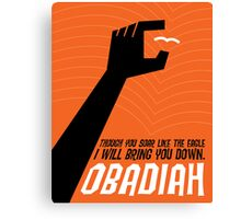 Word: Obadiah Canvas Print