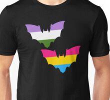 Genderqueer Pansexual Pride Bats Unisex T-Shirt