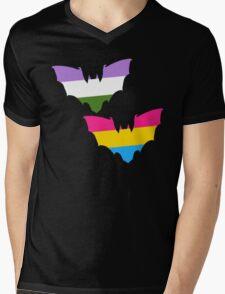Genderqueer Pansexual Pride Bats Mens V-Neck T-Shirt