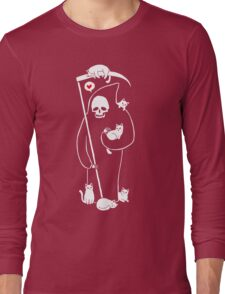 Death Is A Cat Person Long Sleeve T-Shirt