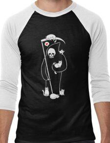 Death Is A Cat Person Men's Baseball ¾ T-Shirt