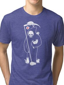 Death Is A Cat Person Tri-blend T-Shirt