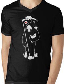 Death Is A Cat Person Mens V-Neck T-Shirt