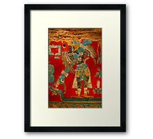 Ancient Mayan Image at the Anthropological Museum in Mexico City Framed Print