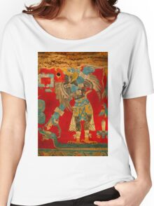 Ancient Mayan Image at the Anthropological Museum in Mexico City Women's Relaxed Fit T-Shirt