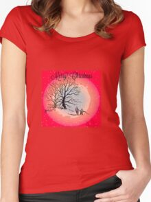 GOING HOME FOR CHRISTMAS Women's Fitted Scoop T-Shirt