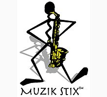 Saxie - Muzik Stix Collection Womens Fitted T-Shirt