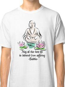 Vegetarian Quote Buddha Classic T-Shirt