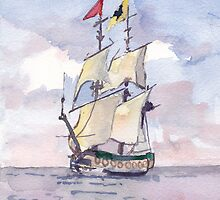 Tall ship by Phyllis Dixon