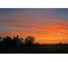 Sunset on the Levels Photographic Print